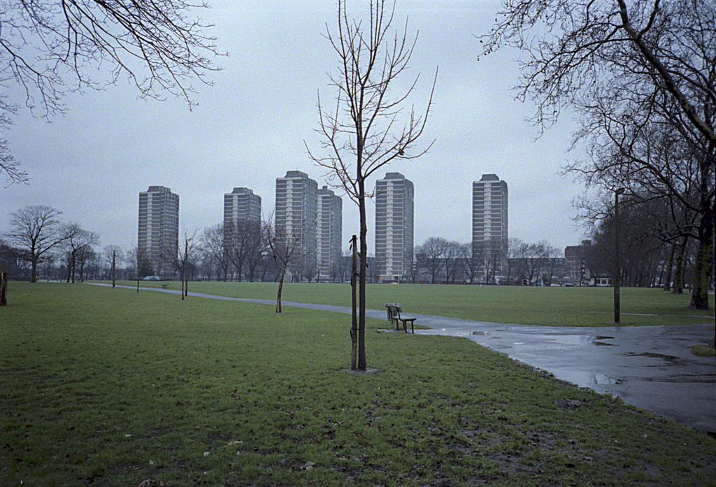 The Nightingale Estate seen from Hackney downs